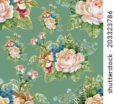 floral colorful roses flowers... | Shutterstock .eps vector #203323786