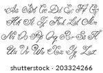 vector hand drawn calligraphic... | Shutterstock .eps vector #203324266