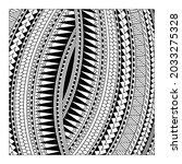 polynesian tattoo redrawn to... | Shutterstock .eps vector #2033275328