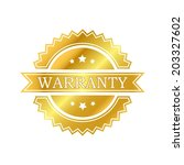 warranty golden label | Shutterstock .eps vector #203327602