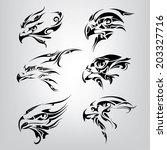 silhouette of the head of birds.... | Shutterstock .eps vector #203327716