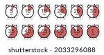 stopwatch icon set  timer ...