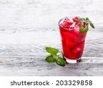 Fresh Cold Strawberry Tea With...