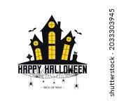 happy halloween banner with... | Shutterstock .eps vector #2033303945