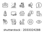 technology icons set. included... | Shutterstock .eps vector #2033324288