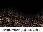 golden luxury dotted halftone... | Shutterstock .eps vector #2033329388