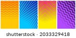 set of abstract halftone curved ... | Shutterstock .eps vector #2033329418