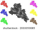 mittelsachsen district  federal ... | Shutterstock .eps vector #2033353085