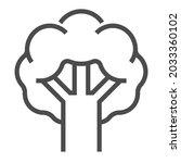 broccoli  square line vector...   Shutterstock .eps vector #2033360102