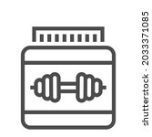 protein powder  square line...   Shutterstock .eps vector #2033371085