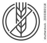 gluten free  square line vector ...   Shutterstock .eps vector #2033383118