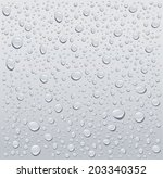 gray water droplets background | Shutterstock .eps vector #203340352