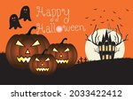 vector illustration. halloween... | Shutterstock .eps vector #2033422412