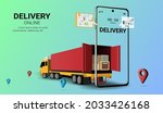 online delivery service on...   Shutterstock .eps vector #2033426168