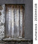 Old Boarded Up Window On A...