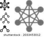 halftone network links. dotted...   Shutterstock .eps vector #2033453012