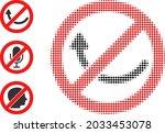 halftone forbidden rotation.... | Shutterstock .eps vector #2033453078