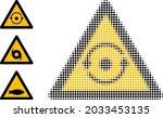 halftone rotation warning.... | Shutterstock .eps vector #2033453135