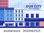 city downtown scenery with...   Shutterstock .eps vector #2033462525