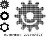 halftone gear wheel rotation.... | Shutterstock .eps vector #2033464925