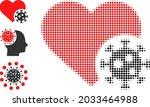 halftone heart infection....   Shutterstock .eps vector #2033464988