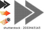 halftone fast forward. dotted...   Shutterstock .eps vector #2033465165