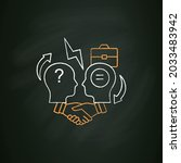 conflict resolution chalk icon...   Shutterstock .eps vector #2033483942