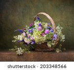 Still Life With Wild Flowers I...