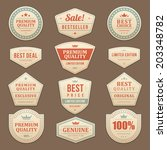vintage vector design elements. ... | Shutterstock .eps vector #203348782