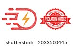 network electric strike icon ... | Shutterstock .eps vector #2033500445