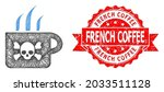 wire frame poison tea icon  and ...   Shutterstock .eps vector #2033511128