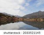 Potrerillos mendoza argentine nature postal water and mountains