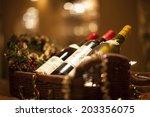 Bottle Of Wine In The Basket