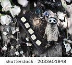 grunge still life with voodoo...   Shutterstock . vector #2033601848