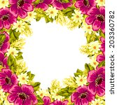 abstract flower background with ... | Shutterstock .eps vector #203360782