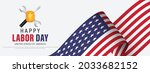 happy labor day usa banner... | Shutterstock .eps vector #2033682152