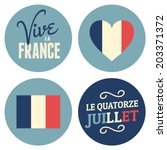 flat design stickers for the... | Shutterstock .eps vector #203371372