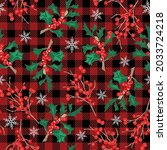 christmas seamless pattern with ... | Shutterstock .eps vector #2033724218