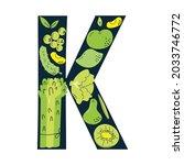 vitamin k main food sources ... | Shutterstock .eps vector #2033746772