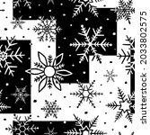 snowflake seamless pattern.... | Shutterstock .eps vector #2033802575