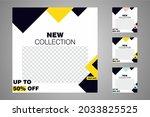 new set of editable minimal... | Shutterstock .eps vector #2033825525