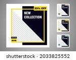 new set of editable minimal... | Shutterstock .eps vector #2033825552