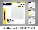 new set of editable minimal... | Shutterstock .eps vector #2033825558