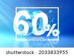 60 off. discount creative... | Shutterstock .eps vector #2033833955