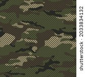 camouflage seamless pattern...   Shutterstock .eps vector #2033834132