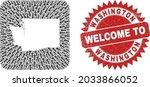 vector mosaic washington state...   Shutterstock .eps vector #2033866052