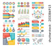 infographic elements collection ... | Shutterstock .eps vector #203386915
