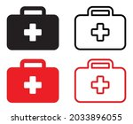 set of first aid kit icons.... | Shutterstock .eps vector #2033896055