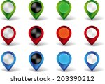 set of color pointers on white... | Shutterstock .eps vector #203390212