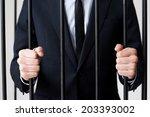 businessmen in prison. cropped... | Shutterstock . vector #203393002